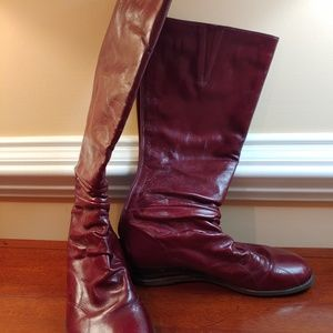Miz Mooz Dark Red Tall Boots
